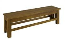 AAmerica LAURO295K Laurelhurst 60 Bench  Rustic Oak Finish