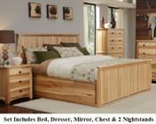 AAmerica ADANT5071Q6P Adamstown 6 Piece Bedroom Set with Queen Sized Storage Bed  Chest  Dresser  Mirrror and Two Nightstands