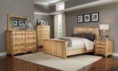 AAmerica ADANT5170K5P Adamstown 5 Piece Bedroom Set with King Sized Panel Bed  Chest  Dresser  Mirrror and Nightstand