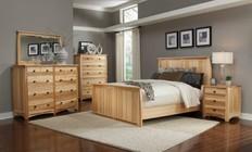 AAmerica ADANT5070Q5P Adamstown 5 Piece Bedroom Set with Queen Sized Panel Bed  Chest  Dresser  Mirrror  and Nightstand