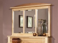 AAmerica Amish Highlands AHINT5560 Dressing Mirror with a Felt Lined Hidden Jewelry Compartment  and 20% Catalyzed Top Coat Sheen in Natural Finish