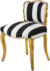 A and B Home 43595 Armless Chair In Golden Foil