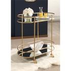 Abbyson Living Adeline Bar Cart in Gold