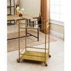 Abbyson Living Bar Cart in Gold