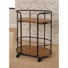 Abbyson Living Khloe Industrial Wood and Iron Bar Cart in Natural