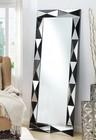 Acme Furniture 97107 Hare Accent Mirror  Silver & Black