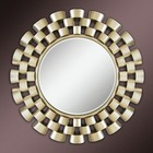 Acme Furniture 97101 Ives Accent Mirror  Champagne Silver