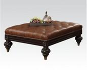 Acme Furniture 51319 Shantoria Oversized Ottoman  D-Brown BL