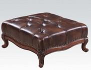 Acme Furniture 05948 Birmingham Ottoman  3 Tone D-Brown TGL
