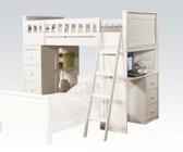 Acme Furniture 10970A Willoughby Headboard Loft Bed  White