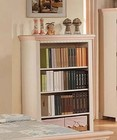 Acme Furniture 00766 Crowley Cream and Peach 2 Basket Bookcase