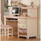 Acme Furniture 00764 Crowley Cream and Peach with Basket Student Desk