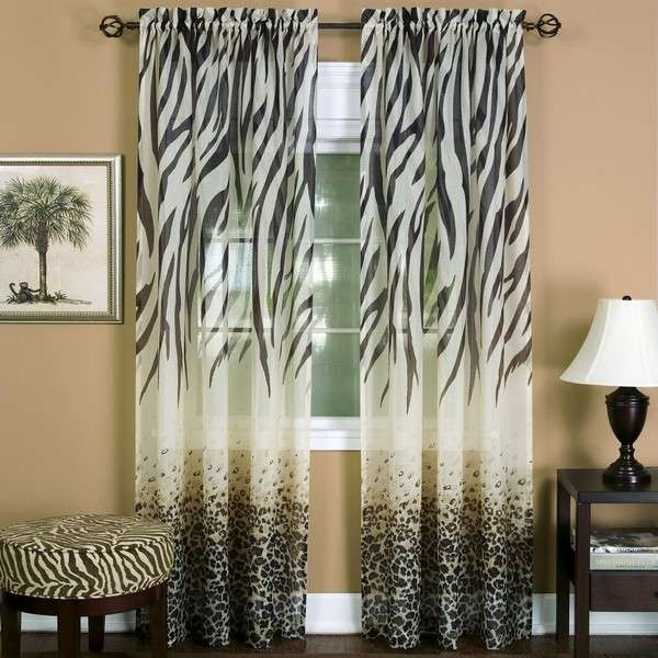 Kitchen Curtains In Kenya: Achim Kenya Window Curtain Panel