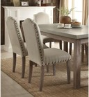 """Acme Furniture Parker Collection 71740 64"""" Dining Table with Concrete Grey Top  Rectangular Shape and Wood Frame in Salvage Oak Finish"""