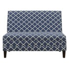 Accentrics Home DSD153715658 High Back Armless Upholstered Blue Settee In