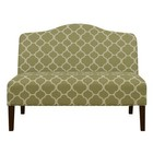 Accentrics Home DSD153714574 Armless Arched Back Lime Upholstered Settee In Green