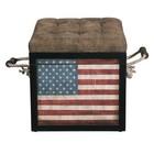 Accentrics Home P020802 Banner American Flag Storage Ottoman In Multi