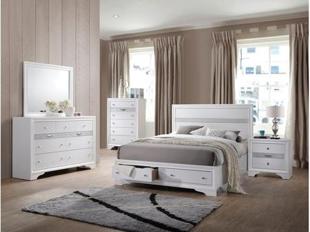 Acme Furniture Naima Collection 25770QSET 5 PC Bedroom Set with ...