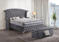 Acme Furniture Rebekah Collection 25816EKB 2 PC Bedroom Set with King Size Bed + Bench in Grey Color