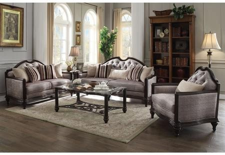 Ordinaire Acme Furniture Azis Collection 537703SET 3 PC Living Room Set With Sofa +  Loveseat + Chair ...
