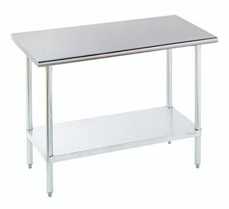 Advance Tabco ELAGX Wide Work Table With Stainless Steel - 18 wide stainless steel work table