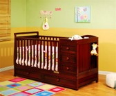 AFG 662C Athena Daphne 2-in-1 Crib and Changer Combo in Cherry