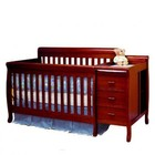 AFG 516C Athena Kimberly 3-in-1 Convertible Crib and Changer Combo in Cherry