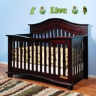 AFG 4688C Jordana Lia 3-in-1 Convertible Crib in Cherry