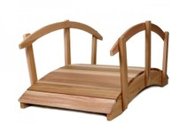 All Things Cedar FB72U-R 6' Garden Bridge/Rails