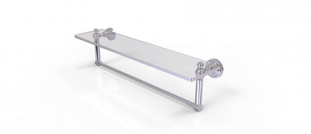 Moen Yb9863orb Waterhill Three Globe Bath Light Oil: Allied Brass Dottingham 22 Inch Glass Vanity Shelf With