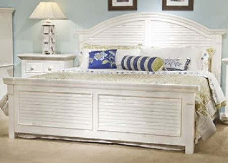 Surprising American Woodcrafters Cottage Traditions 6510 66Pan King Panel Bed With Arched Crown Overlays Arched Louvered Inserts And Hardwood Solid Construction Best Image Libraries Counlowcountryjoecom