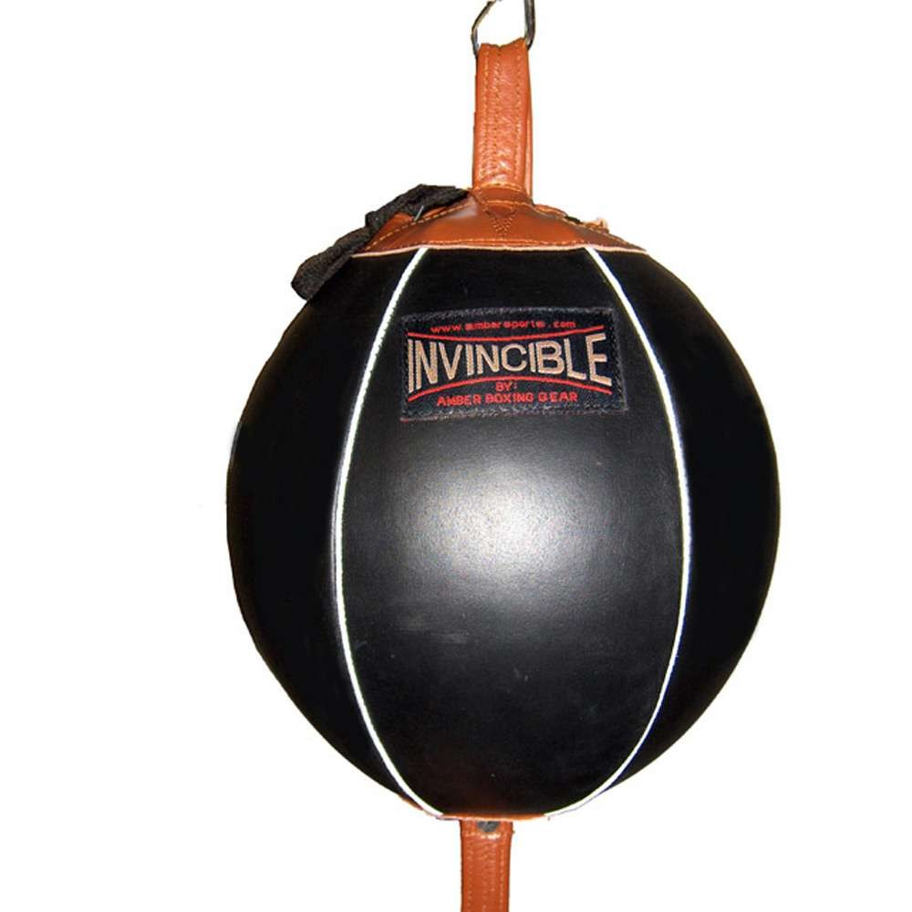 """Amber Home Goods Invincible Fight Gear 6"""" Double End Bag"""
