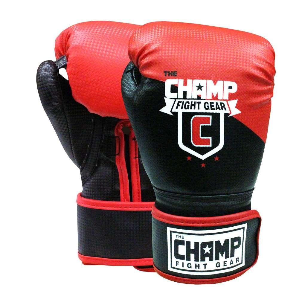 Amber Home Goods The Champ Black 14oz Hook & Loop Gloves