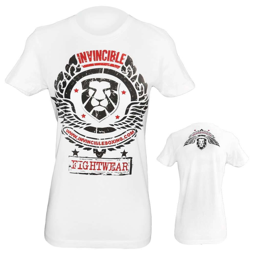 Amber Home Goods White Small Women's Invincible Fight Wear