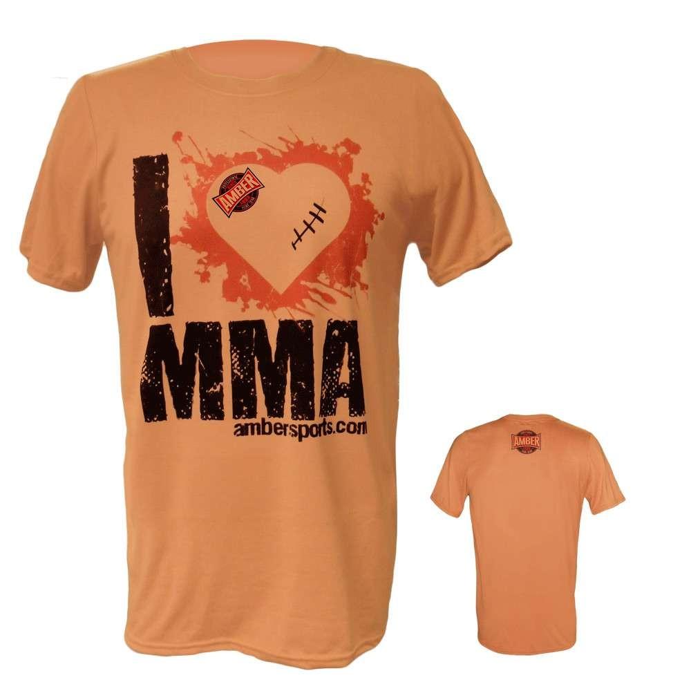 Amber Home Goods Orange XL I Love MMA T-Shirt
