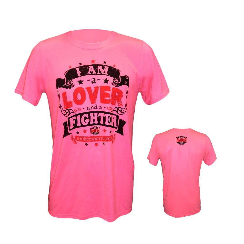Amber Home Goods Pink Small I Am A Lover And A Fighter T