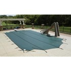 Arctic Armor WS395G Green 12-Year Mesh Safety Cover For 20' x 40' Rectangular Pool With Center End Step in Green