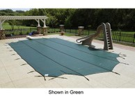 Arctic Armor WS375BU Blue 12-Year Mesh Safety Cover For 18' x 40' Rectangular Pool in Blue