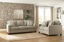 Ashley Alenya Collection 16600SL 2-Piece Living Room Set with Sofa and Loveseat in Quartz