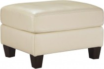 "Ashley O'Kean 5910214 35"" Ottoman with Leather Match Upholstery  Stitching Details and Tapered Legs in Galaxy"