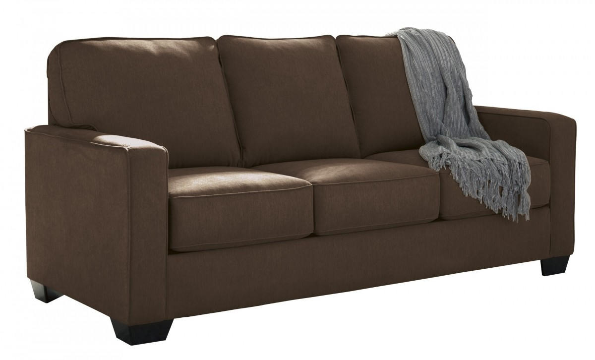 Cool Ashley Zeb 3590336 76 Full Size Pull Out Sofa Sleeper With Memory Foam Mattress Track Arms And Loose Seat Cushions In Espresso Evergreenethics Interior Chair Design Evergreenethicsorg