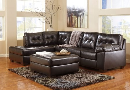 Wondrous Ashley Alliston 20101 08 16 67 2 Piece Living Room Set With Left Chaise Sectional Sofa And Ottoman In Chocolate Onthecornerstone Fun Painted Chair Ideas Images Onthecornerstoneorg