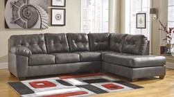 Ashley 20102-17-66 Alliston Sectional Sofa with Right Arm Facing Corner Chaise and Left Arm Facing Sofa in Grey