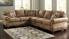 Ashley 31901-56-46-66 Larkinhurst 3-Piece Sectional Sofa with Right Arm Facing Loveseat  Armless Chair and Left Arm Facing Sofa in Earth Color