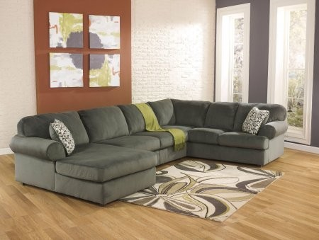 Ashley Jessa Place 39803 16 34 67 3pc Fabric Sectional Sofa With Left Arm Facing Corner