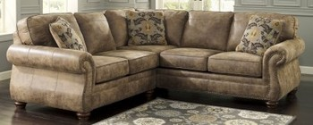 Ashley 31901-55-67 Larkinhurst Sectional Sofa with Left Arm Facing Loveseat and Right Arm Facing Sofa in Earth Color