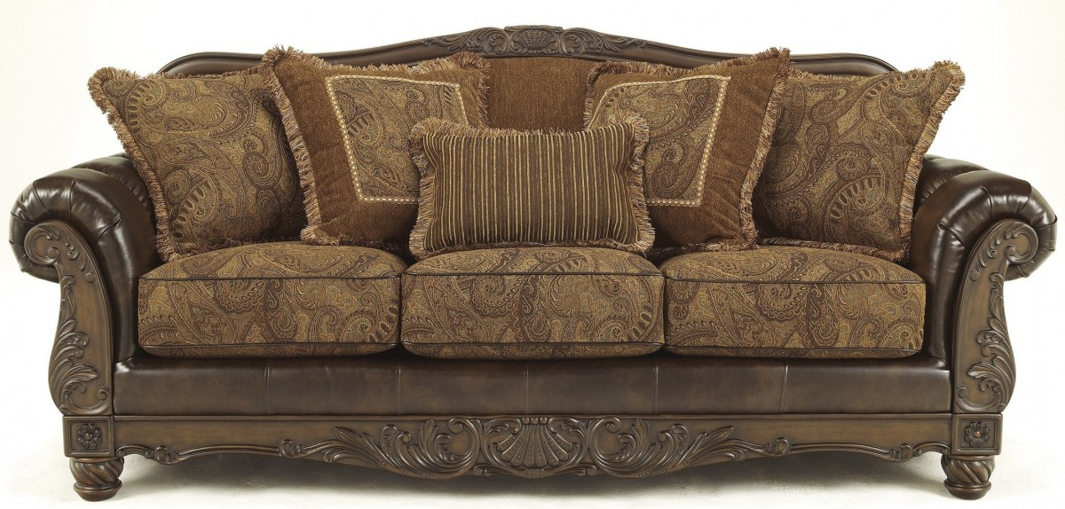 """Ashley Fresco Collection 6310038 92"""" Sofa with DuraBlend ..."""