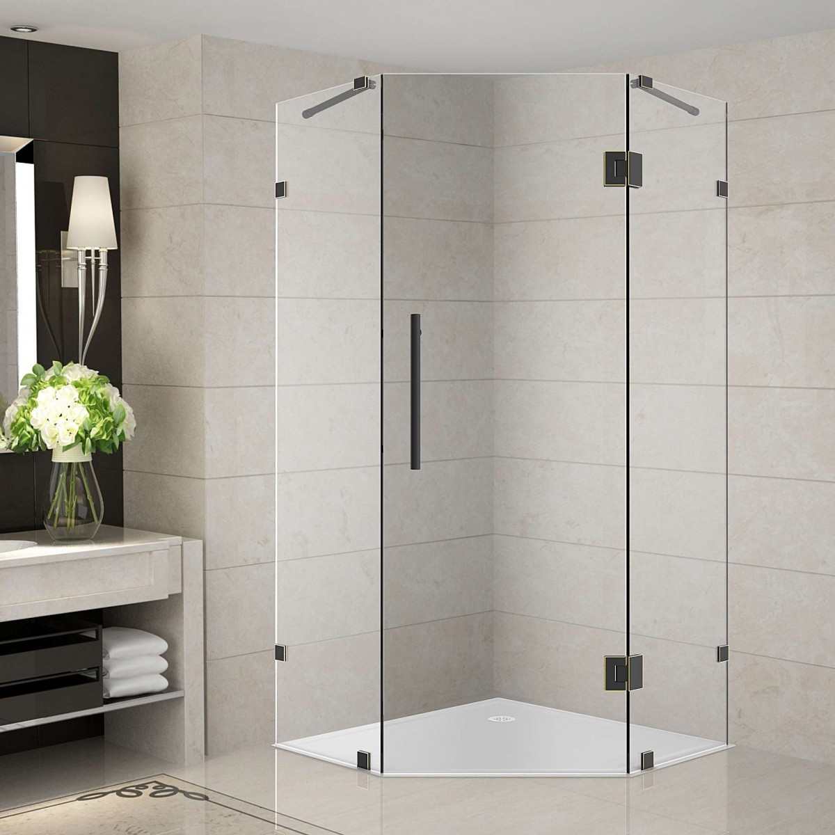 36 neo angle shower enclosure hanging paper lights