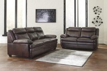 Ashley Hannalore Collection 1530438SL 2 PC Living Room Set with Sofa + Loveseat in Cafe Color