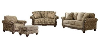 Ashley Irwindale Collection 88404SLCO 4-Piece Living Room Set with Sofa  Loveseat  Living Room Chair and Ottoman in Topaz